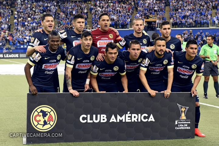 Montreal, Canada - April 29, 2015: Club America team photo