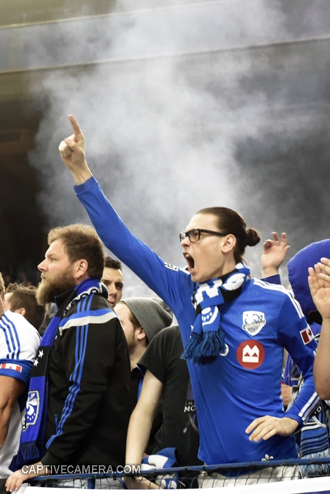 Montreal, Canada - April 29, 2015: There was no shortage of loud and passionate Montreal Impact supporters.