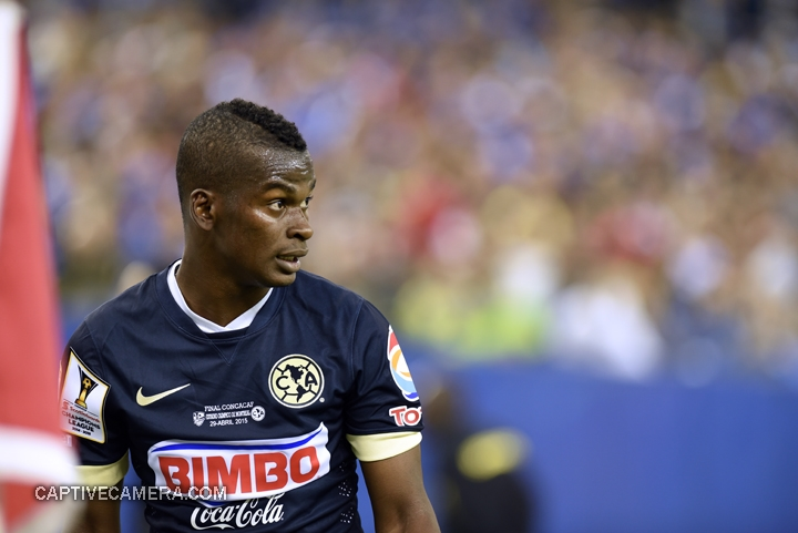Montreal, Canada - April 29, 2015: Darwin Quintero #3 of Club America prepares to take a corner kick.