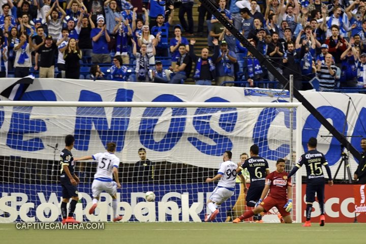 Montreal, Canada - April 29, 2015: Jack McInerney #99 of Montreal Impact scores a late goal for Montreal in the 88th minute.