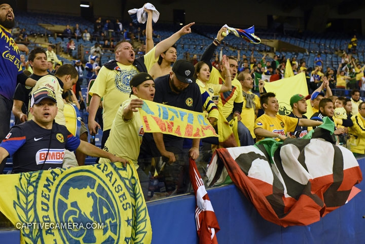 Montreal, Canada - April 29, 2015: Club America fans celebrate their team's victory.