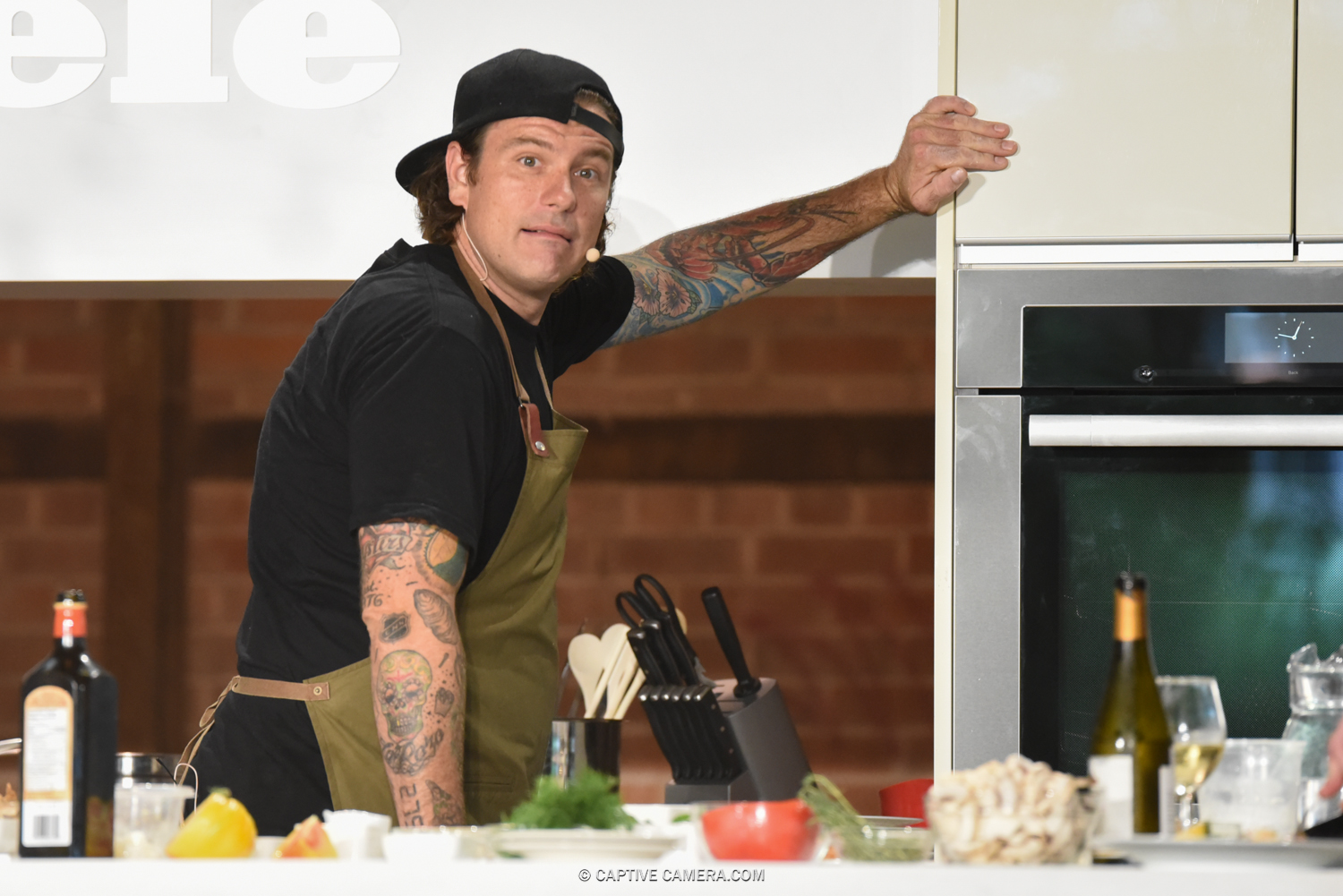 CANADIAN CELEBRITY CHEF CHUCK HUGHES AT TORONTO FOOD AND WINE FESTIVAL