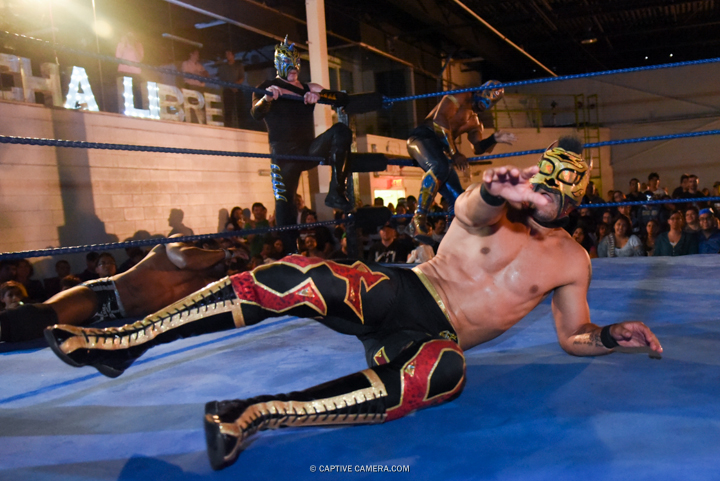 Sept. 20, 2015 (Toronto, ON) - Tag team wrestling match at Lucha Toronto.