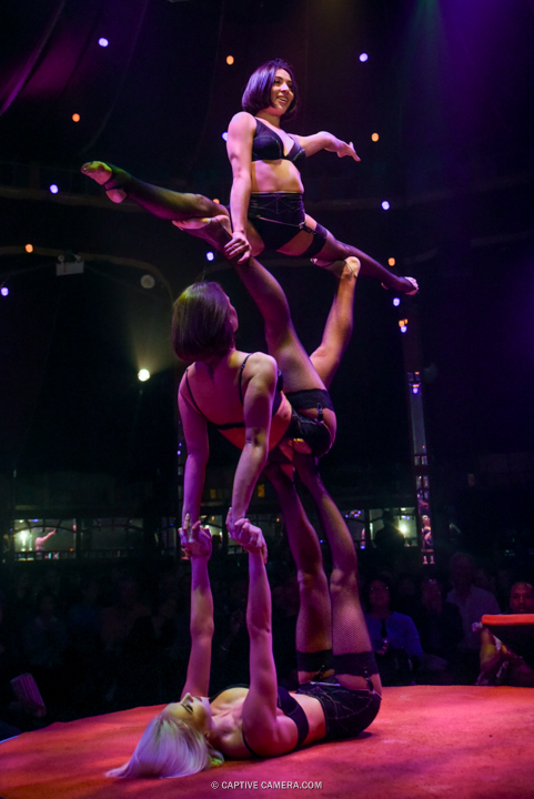 Oct. 1 2015 (Toronto) - Leslie Munos, Alina Reutska and Kateryna Rudenko take the stage at Spiegelworld Empire.