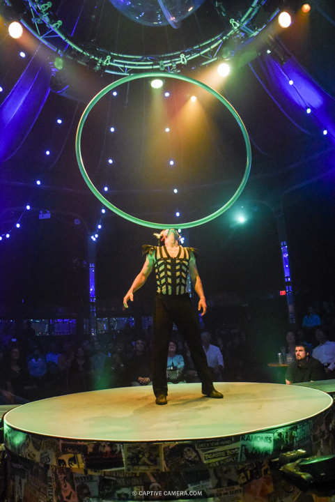 Oct. 1 2015 (Toronto) - Yasu Yoshikawa is the master of rings at Spiegelworld Empire.