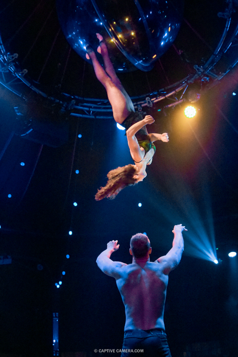 Oct. 1 2015 (Toronto) - Aiusha Khadzh Khamed and Vlad Ivashkin get in the act at Spiegelworld Empire.