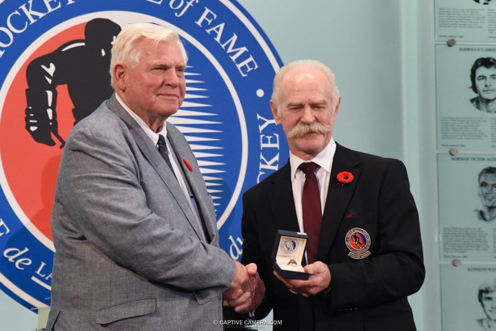 Nov. 6, 2015 (Toronto, ON) - Bill Hays is inducted into the Hockey Hall of Fame by Chairman Lanny McDonald.