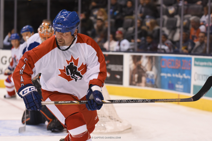 Nov. 8, 2015 (Toronto, ON) - Wendel Clark of Team Gilmour during the Haggar Hockey Hall of Fame Legends Classic at Air Canada Centre.