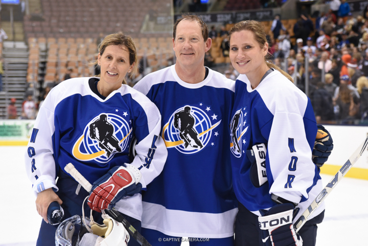 Nov. 8, 2015 (Toronto, ON) - American players Cammi Granato, Phil Housley and Angela Ruggiero during the Haggar Hockey Hall of Fame Legends Classic at Air Canada Centre.