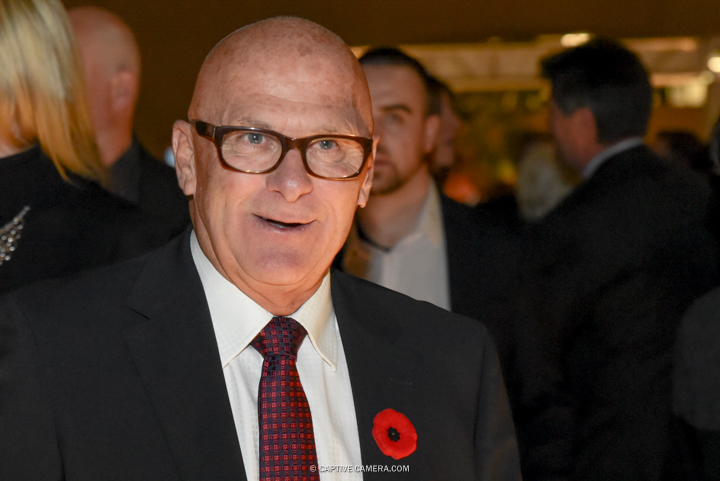 Nov. 9, 2015 (Toronto, ON) - NHL referee Ray Scapinello on the red carpet to the Hockey Hall of Fame induction ceremony at Brookfield Place, downtown Toronto.