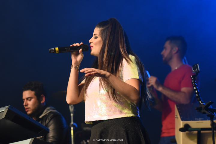 Nov. 21, 2015 (Toronto, ON) - Backup singer of Venezuelan duo Chino & Nacho during their performance at Sound Academy.