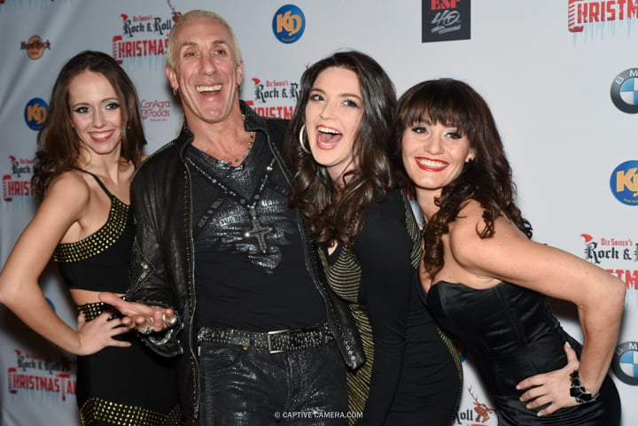 Lexi Soha, Dee Snider, Tiera Watts and Valerie Stanois at the red carpet premiere of  Dee Snider's Rock and Roll Christmas Tale at Winter Garden Theatre in Toronto on November 9, 2015.