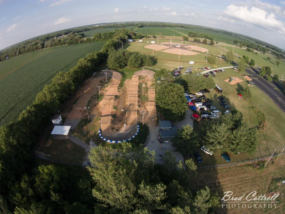 Columbus BMX from overhead - June 13, 2015.