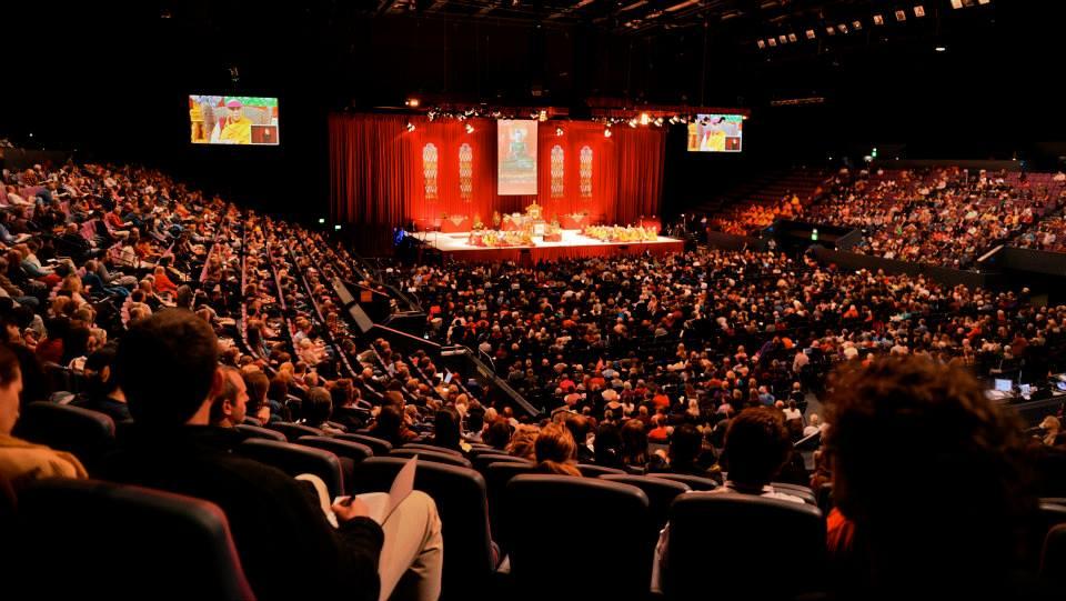 The Dalai Lama in Australia event, Sydney Entertainment Center.