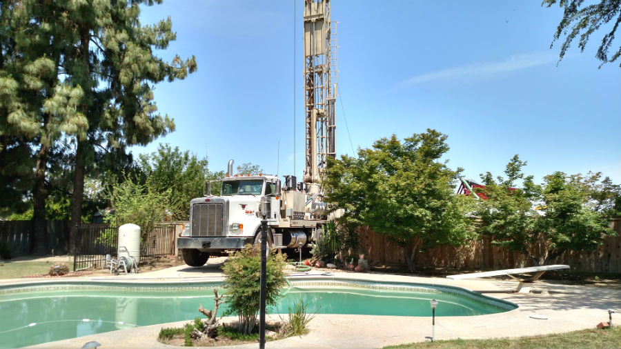 We take great care not to damage property during the drilling operation.