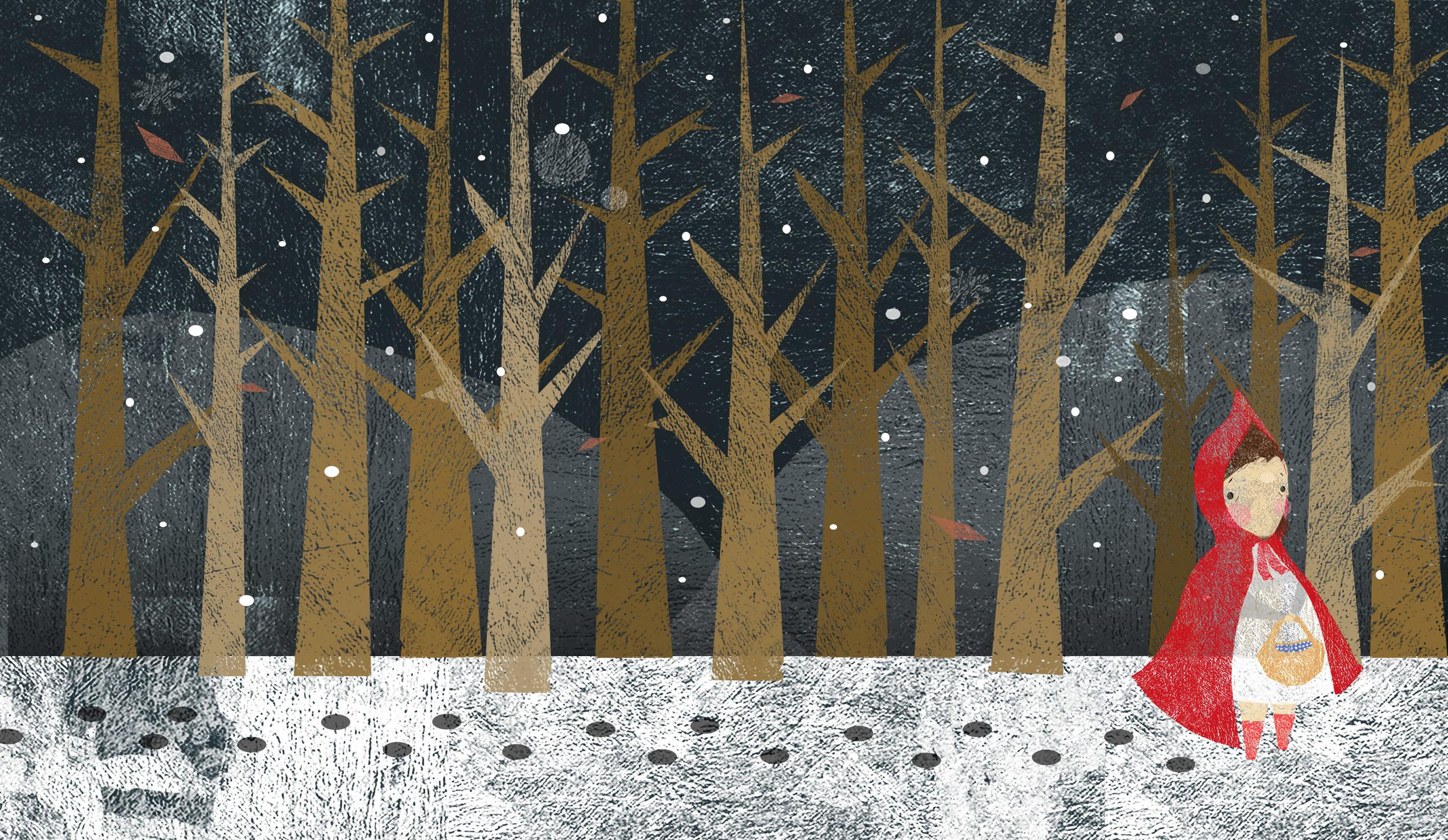 Red Ridding Hood and Trees: Simone Shin