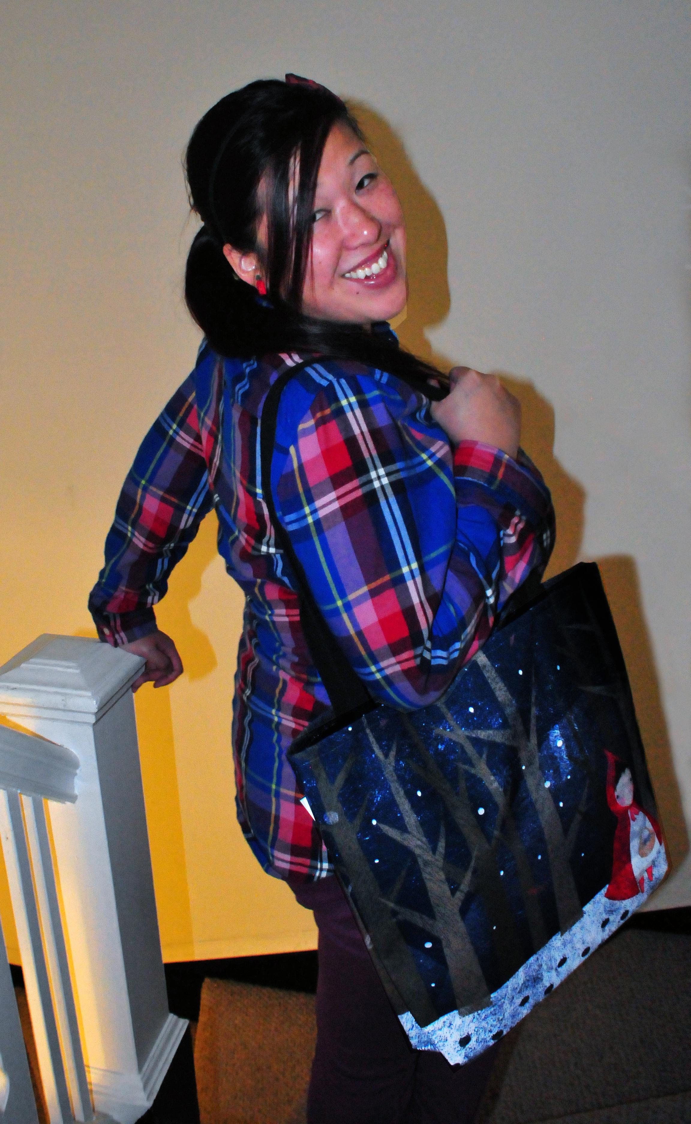 Angela P Modeling Bag