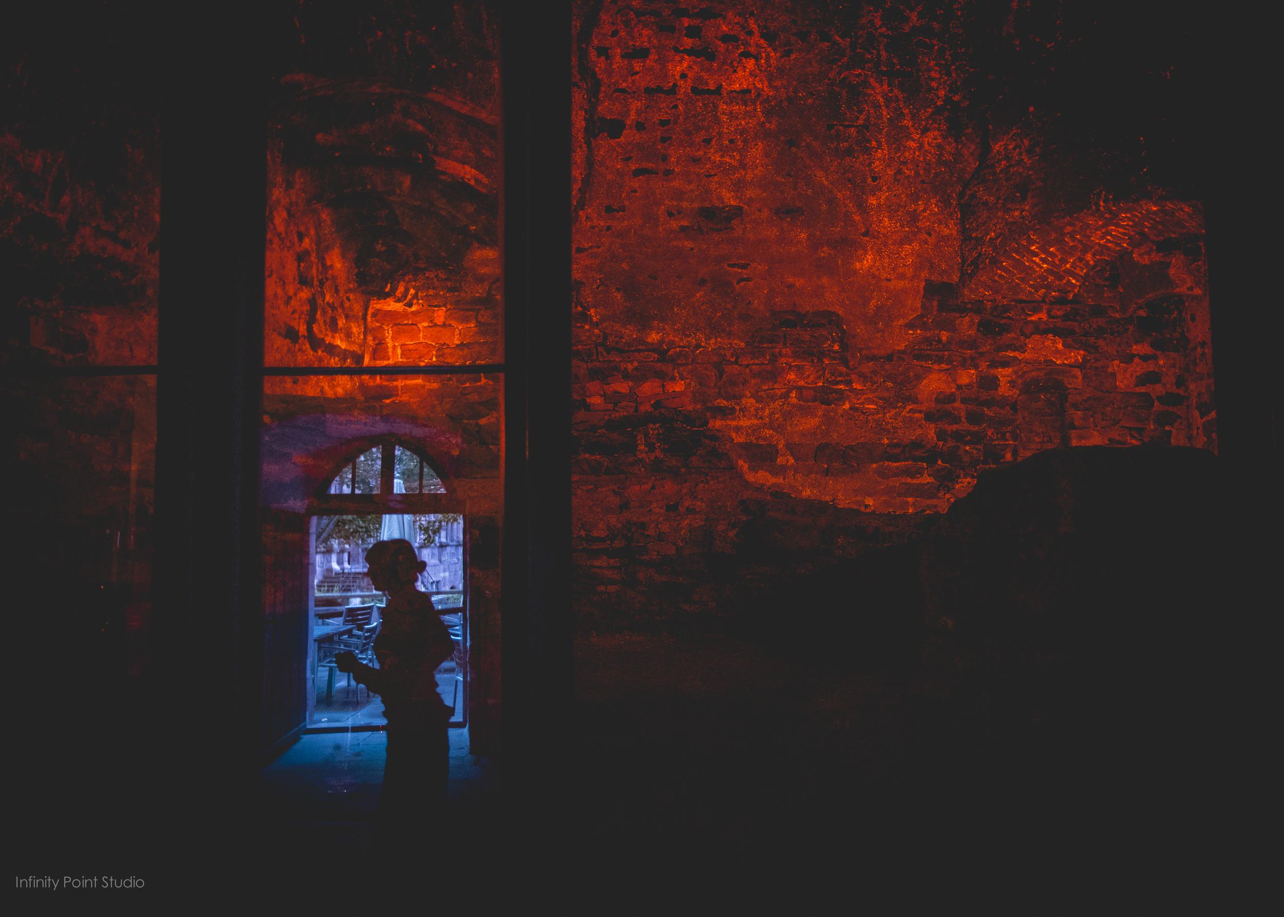 Inside the original 14th century oven at Schloss Heidelberg