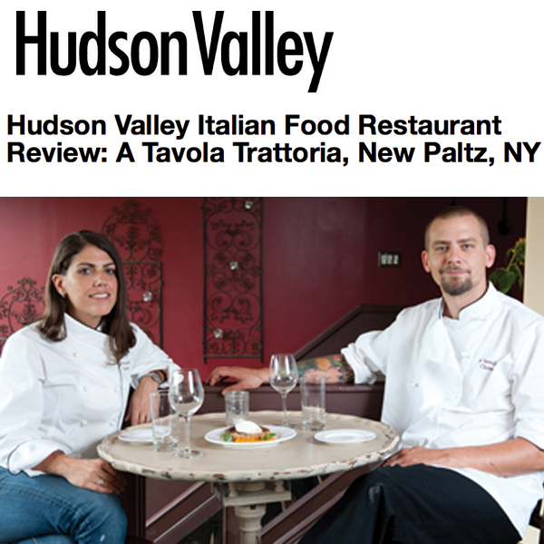 Hudson Valley Magazine 2012 Review of A Tavola
