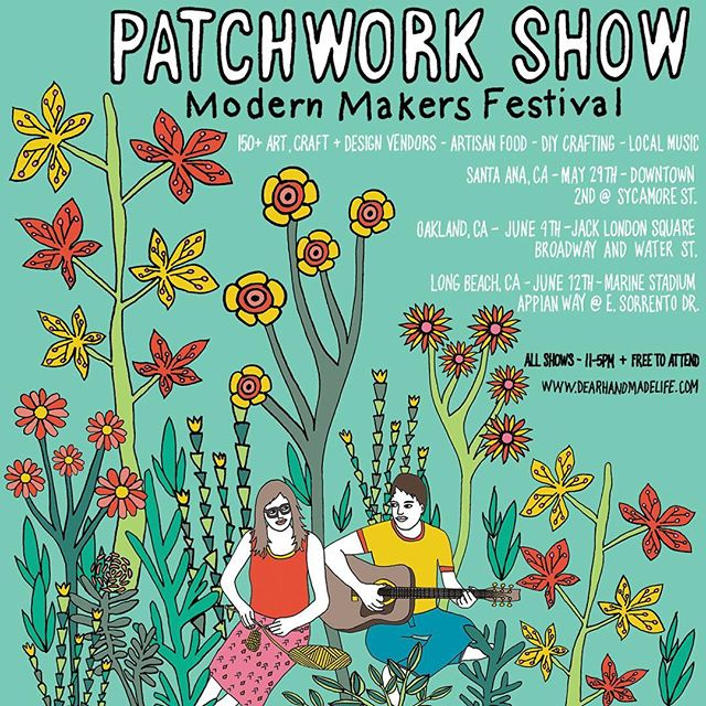 Girl Group will be selling at #patchworkshow this June 4th in Oakland! Come see us!