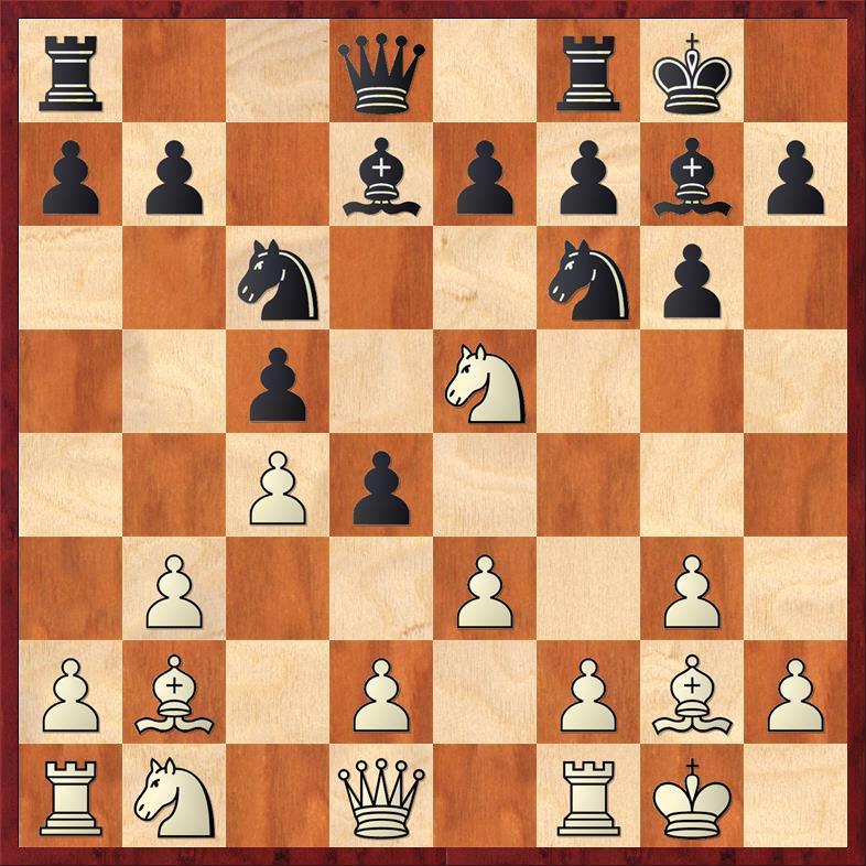 Position after 9. ... d4!?