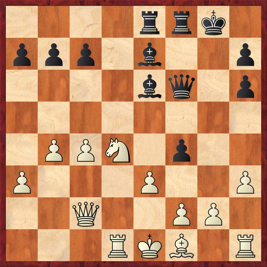 Position after 17. ... f4
