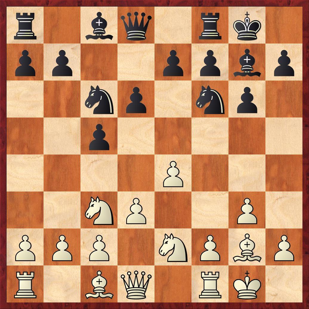 Position after sideline 7. ... d6