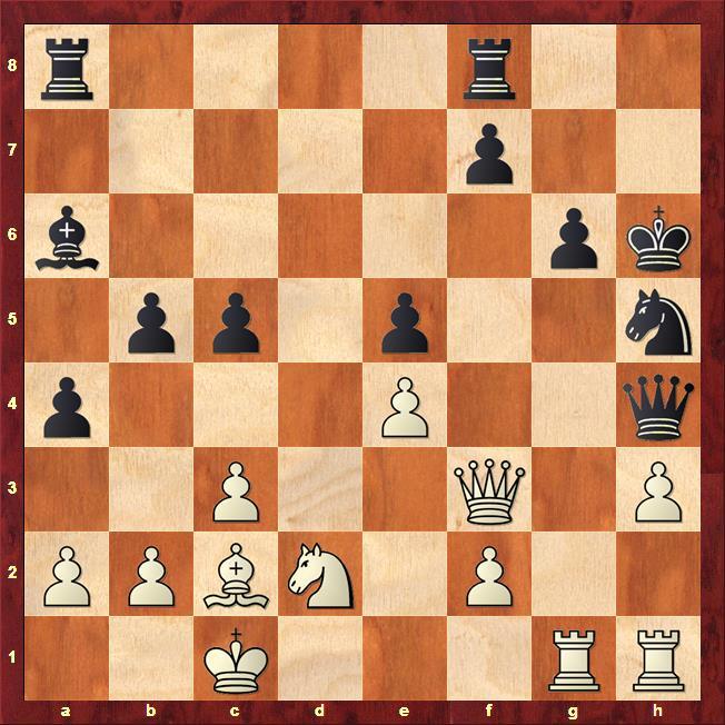 Position after 21...Kh6