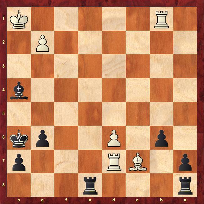 Position after sideline 43...Rxd7