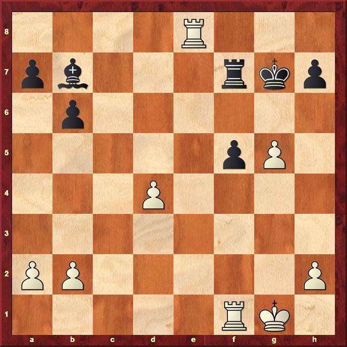 Position after sideline 32...Kg7