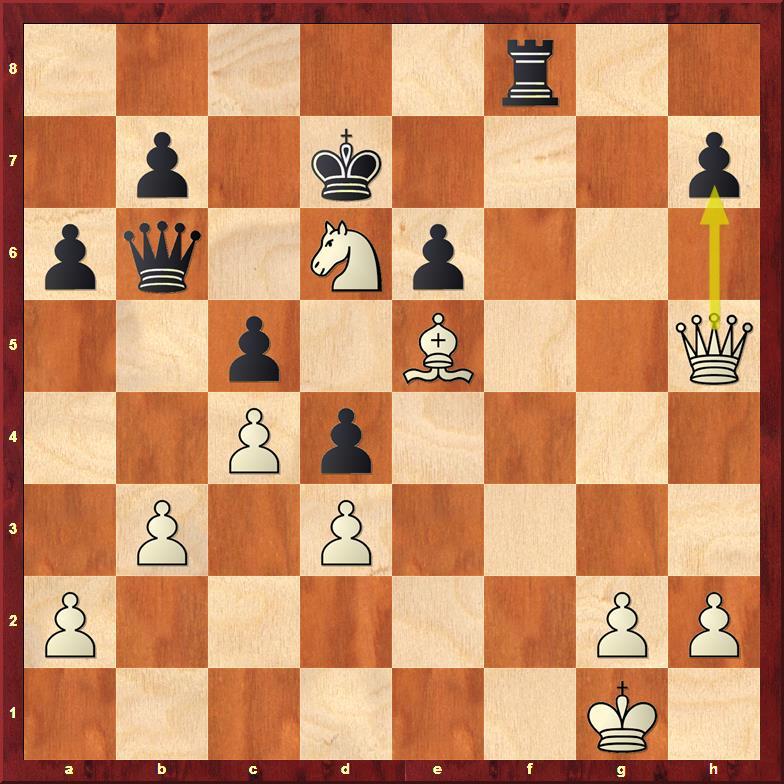 Position after sideline 25.Qh5