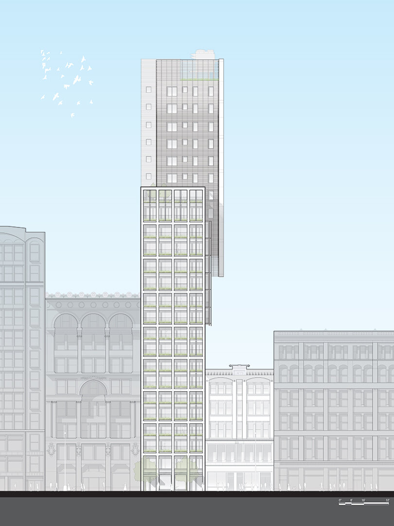 39 W23rd Street | South Elevation Illustration by Rob Cleary