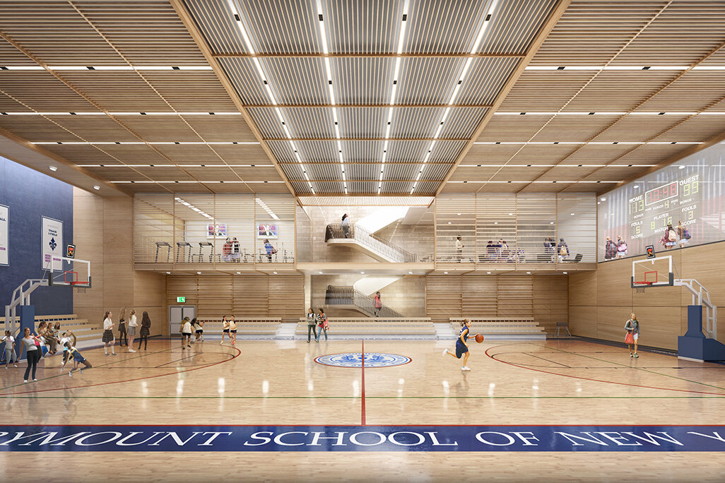 Marymount School of New York | Gymnasium Rendering Model, Rendering & Comp by Rob Cleary