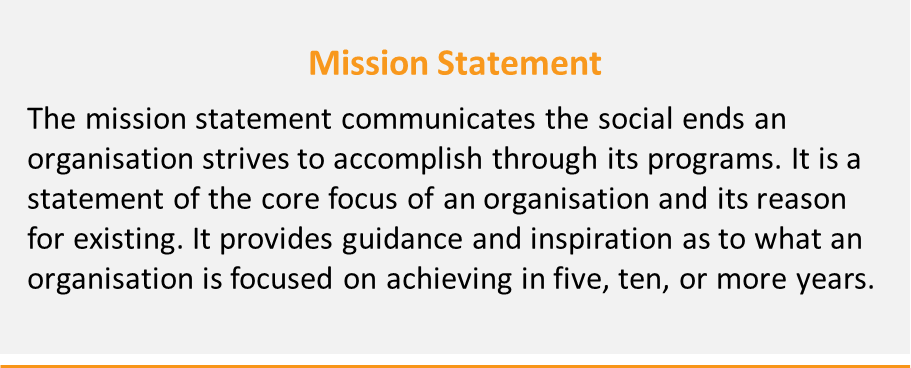 Figure 5: Mission statement