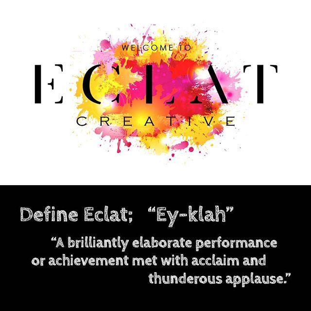 What's in a name? And what's the meaning behind ours? Offering service and facilities worthy of acclaim and applause; so our clients can achieve their very own eclat. 👏 #photostudio #design #name #style #marketing #graphicdesign #studio #lifestyle #melbourne #eclat