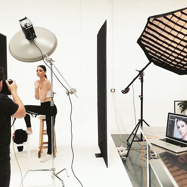 An extroadinary team in the Eclat Creative studio today. The beautiful @sarahaburns - makeup perfection by @cosmetiquemakeup and the photographic talents of @petersoulis - #photostudio #portrait #photography #studio #lifestyle #style #interior #photo #warehouse #creative #fashion #beautiful #model #bts #behindthescenes #onset