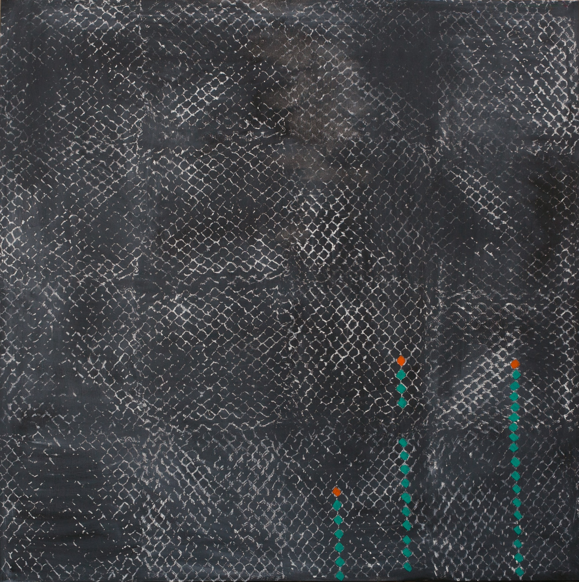 Meditation (SOLD)  4x4' Acrylic on Canvas