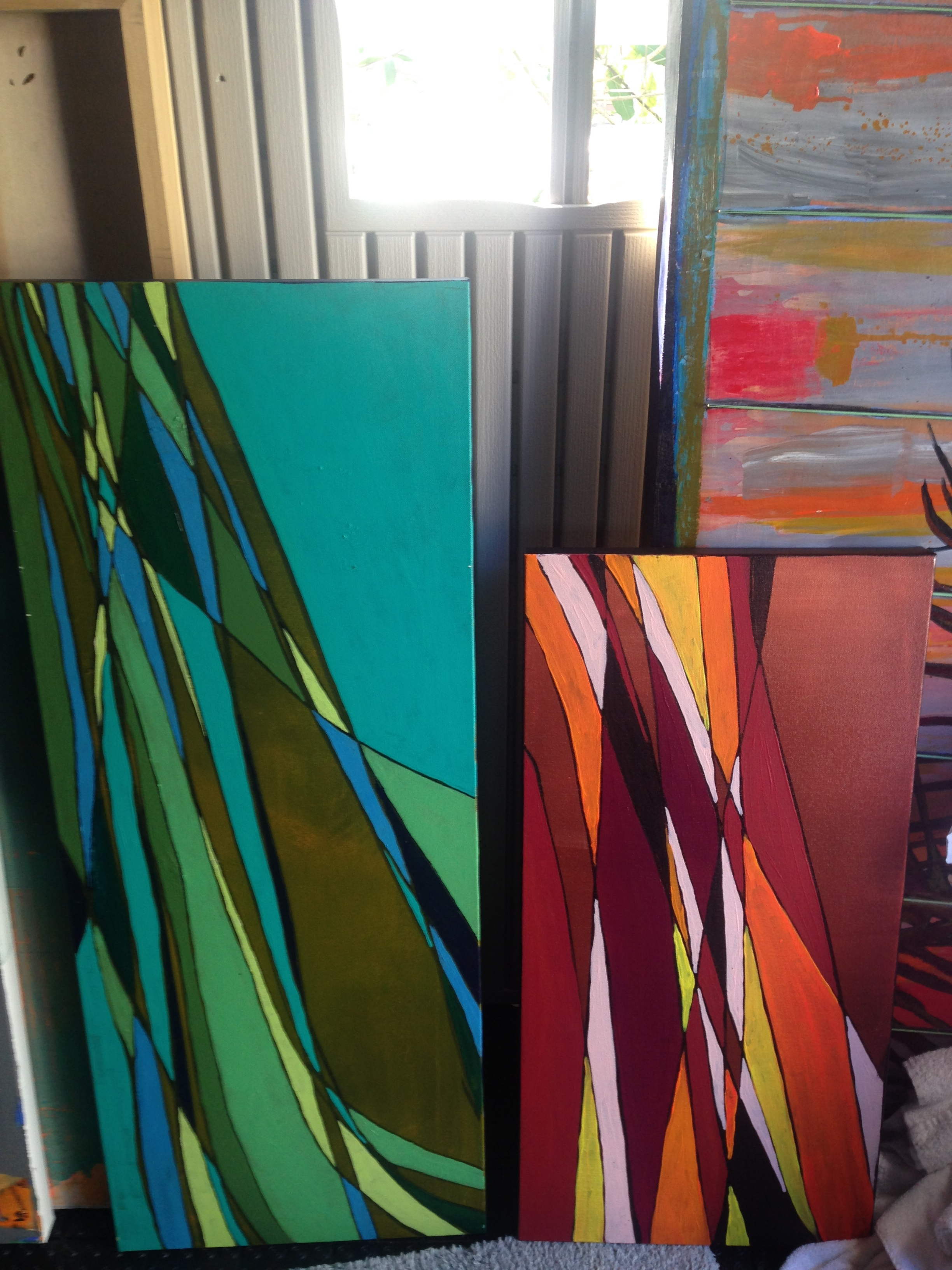 1x3' & 1x2' Shadow Pair ( SOLD)   Acrylic on gallery wrapped canvas