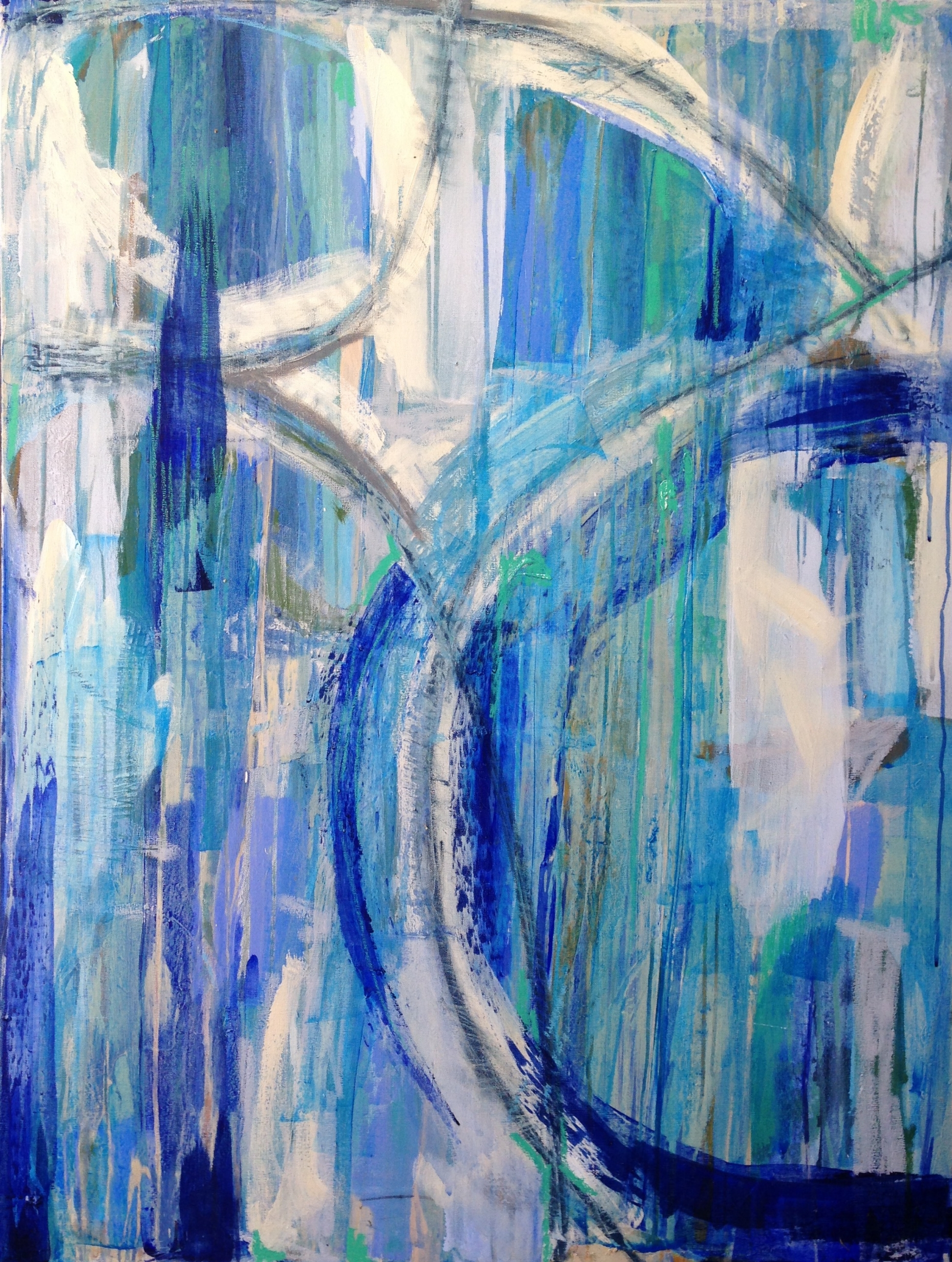 Rising Tide Series #2  (SOLD)   3x4' Acrylic and oil stick on gallery wrapped canvas