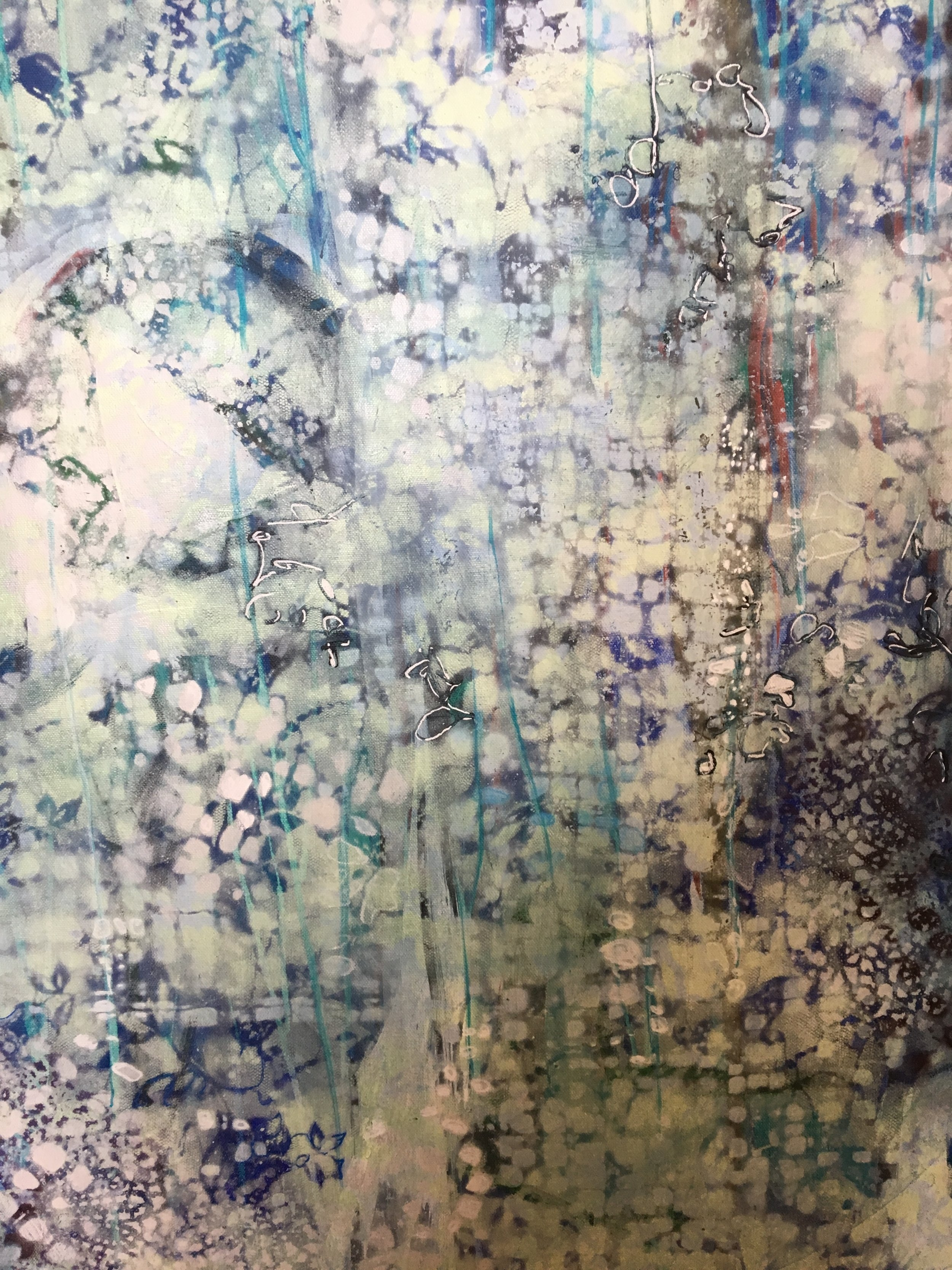 """Spring ( SOLD)   40x30"""" Acrylic on Gallery Wrapped Canvas"""