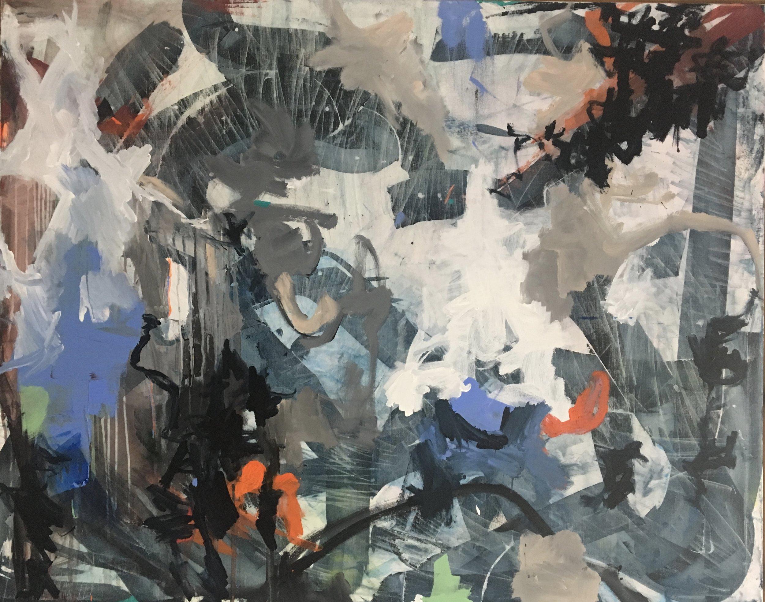 """Pulsating""  48x60"" Mixed Media on Canvas"
