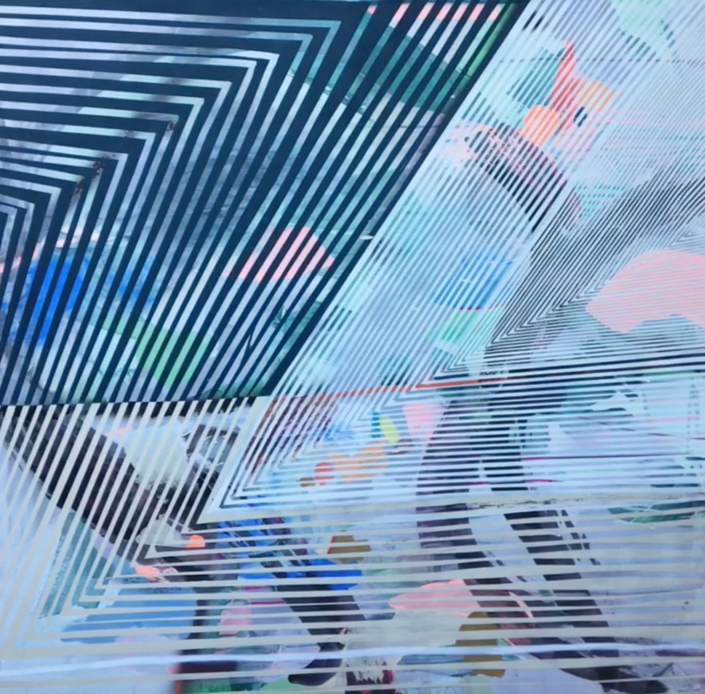 """A world below""  48x48"" Mixed Media on Canvas"