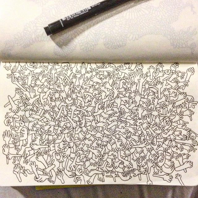 A little bit of hand drawing to come back onto Instagram. #art #sketch #handdrawn #ink #moleskine #drawing #doodle