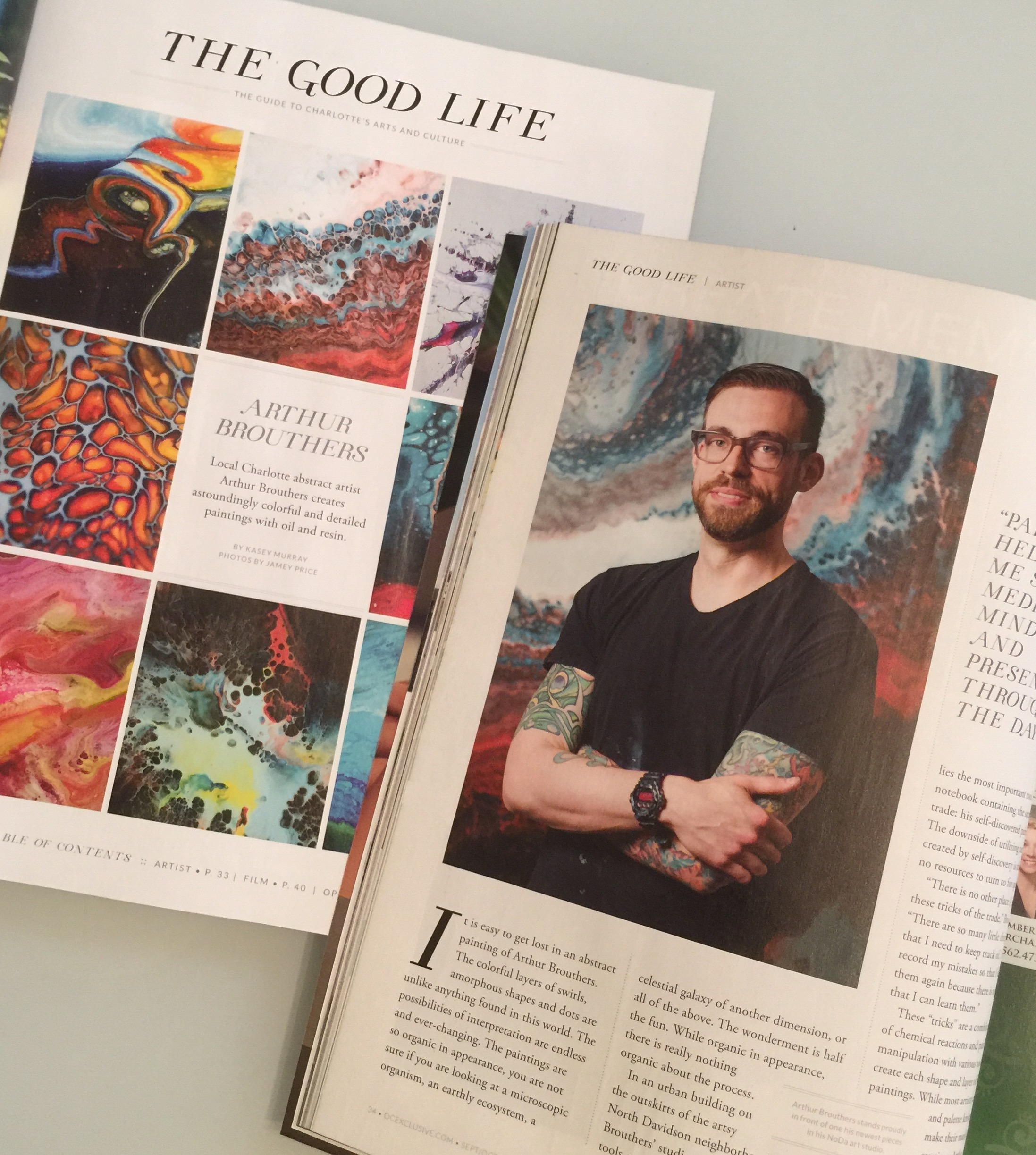 Artist Feature Sept/Oct Issue