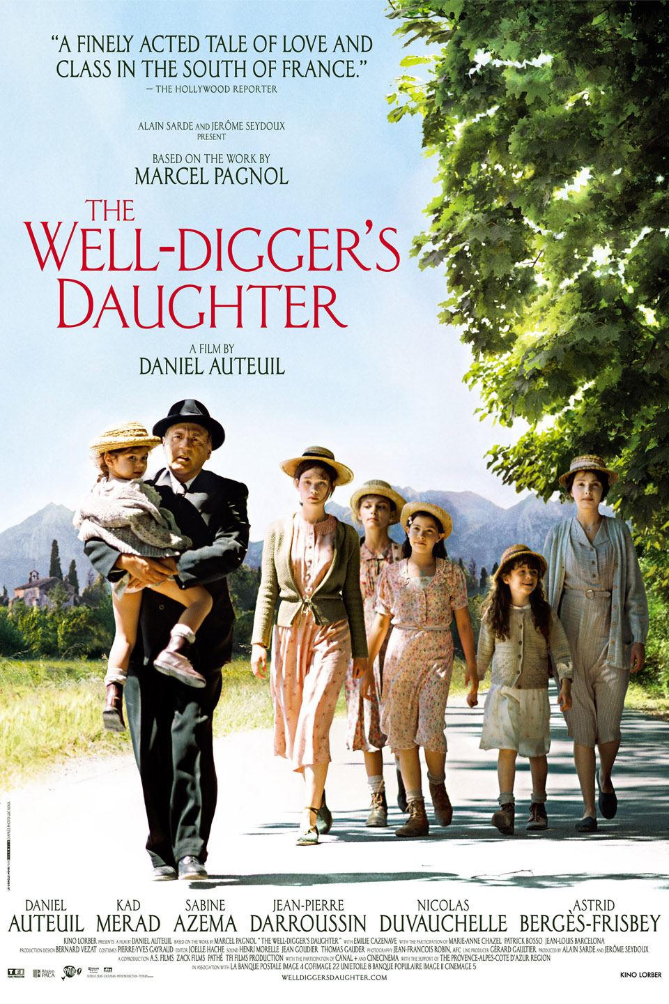 A film by Daniel Auteuil set in an evocative landscape and period.  A romantic drama set in rural Provence at the beginning of the Second World War , this film is both directed by and stars Daniel Auteuil, who is one of France's most famous film actors.  Auteuil plays Pascal Amoretti, a well-digger, whose daughter, Patricia, becomes briefly involved with Jacques, the wealthy son of a shop-keeper, who is also a fighter pilot.  Pascal becomes torn between his own personal honour and love for his daughter, as Jacques is called away to the front and Patricia finds herself expecting a child. Jacques' rich parents initially accuse her of blackmail and it is feared that Jacques has abandoned Patricia because of her lower social status.  When it becomes known that Jacques has gone missing in action, Pascal tries to deal with this situation and protect his family as best he can.  Rated PG