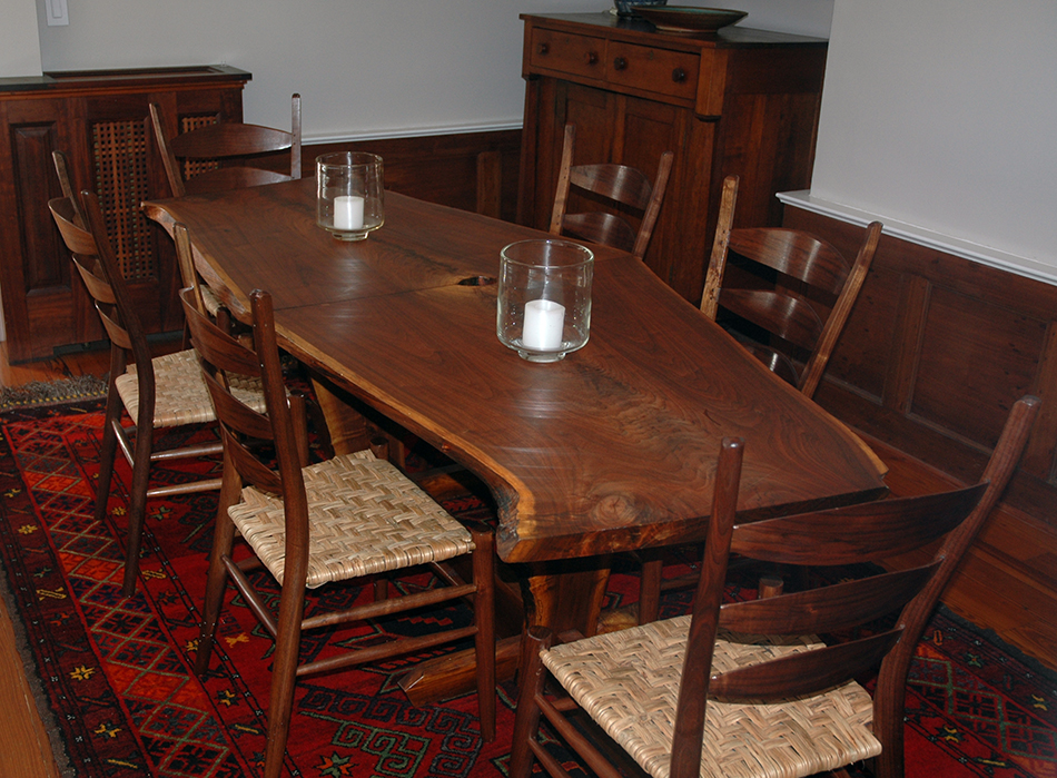 Table and six side chairs made by student George Ingram