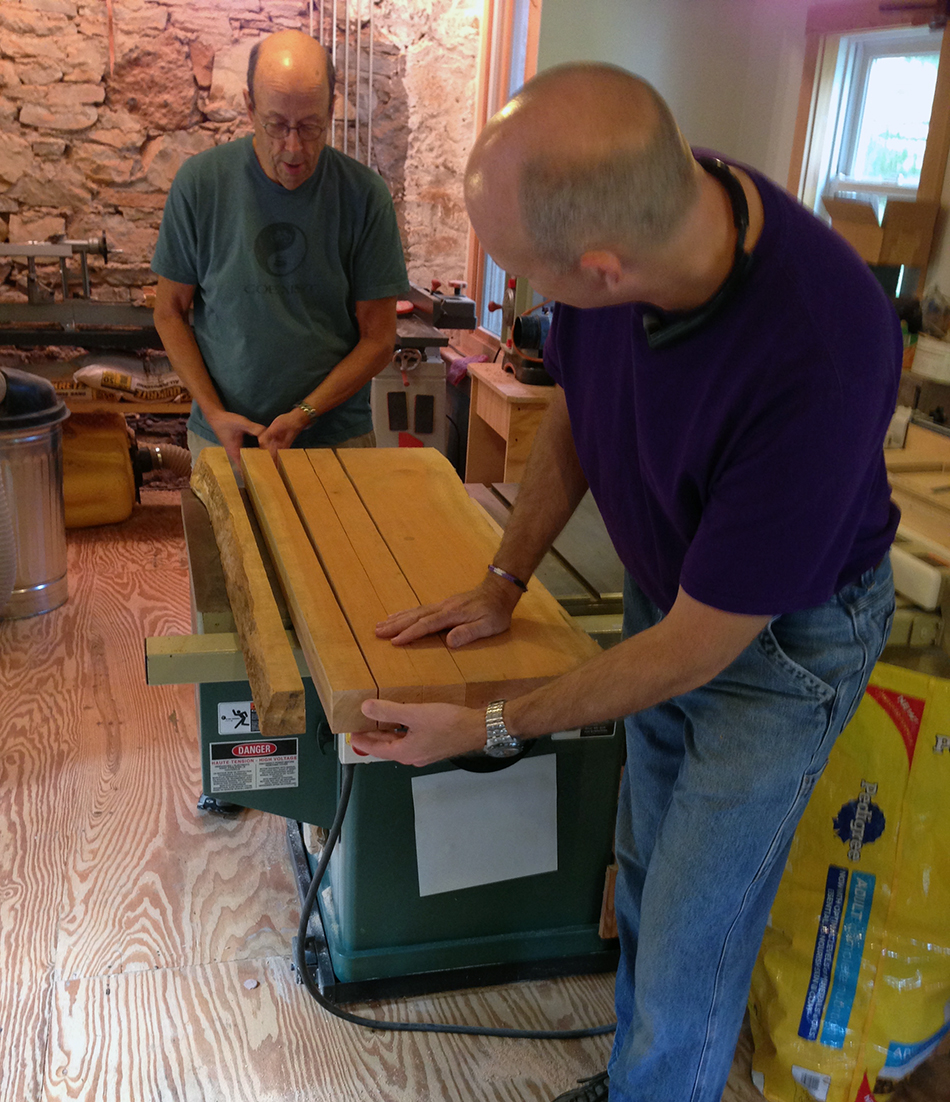Side Chair Class, Day One: Evaluating and choosing wood for the rear legs