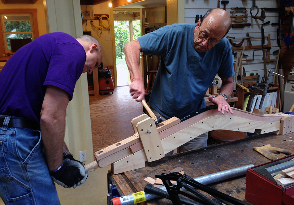 Side Chair Class, Day One: Bending the rear legs