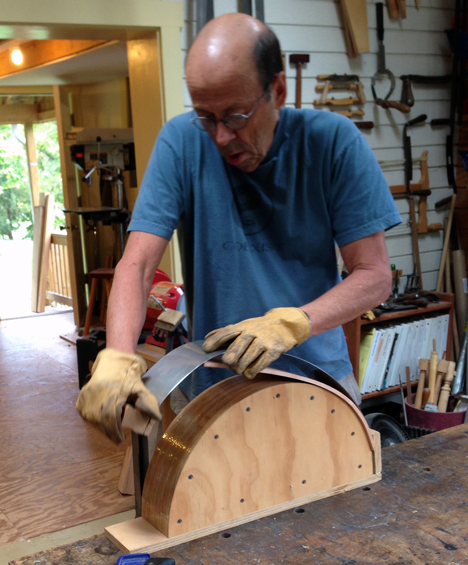 Side Chair Class, Day One: Bending a slat