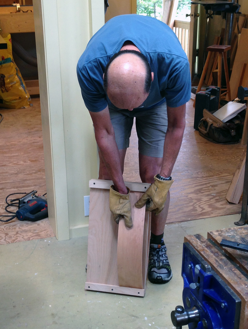 Side Chair Class, Day One: Transferring a slat to the drying form